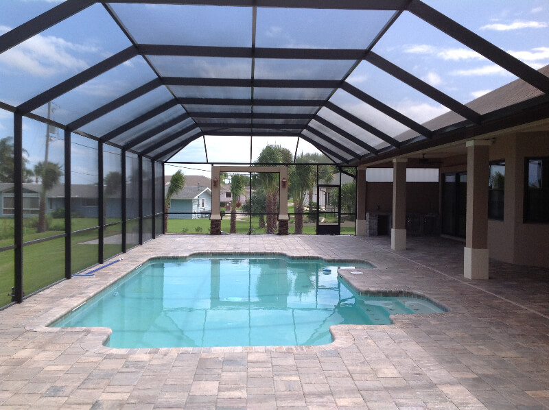 Orlando screen pool enclosures swimming pool enclosures - Swimming pool screen enclosures cost ...