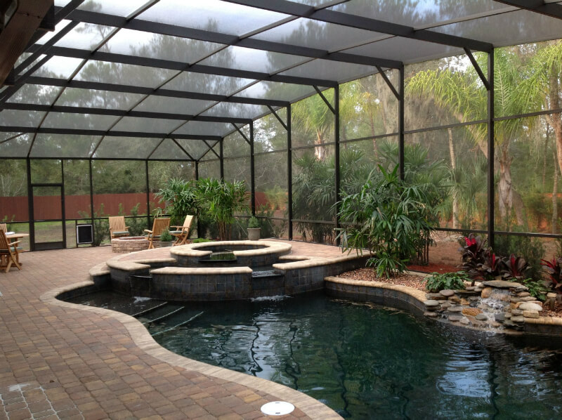 Swimming Pool Screening : Orlando screen pool enclosures swimming