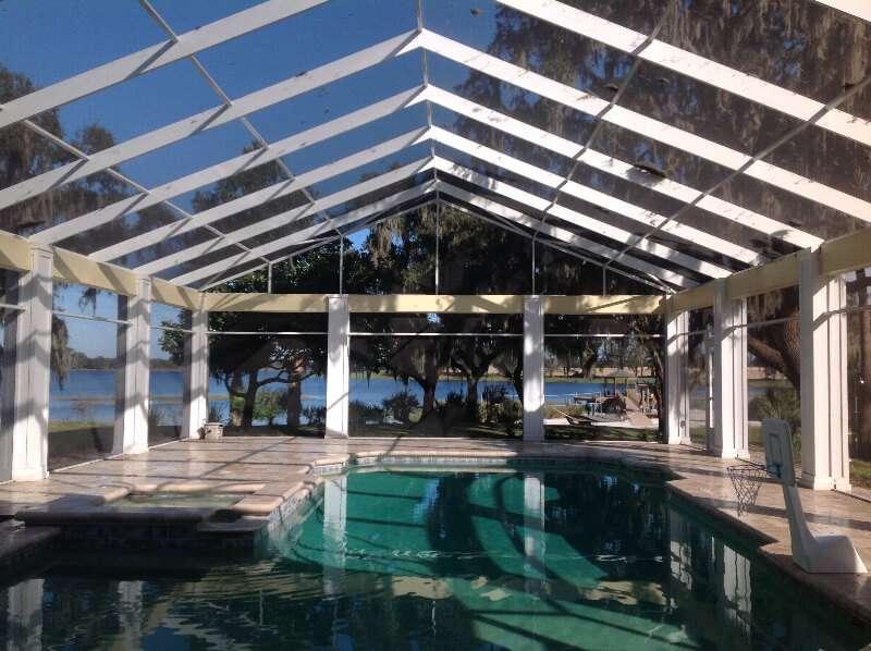 Pool Enclosure 1 Replacement Dulando Screen Awning
