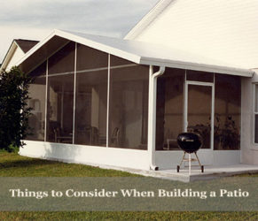 Things to Consider When Building a Patio