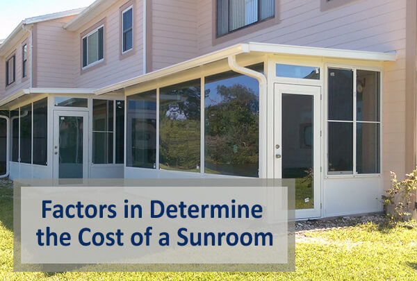 Cost of a sunroom dulando screen awning for Cost of solarium