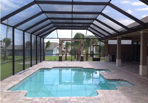outdoor swimming pool enclosures
