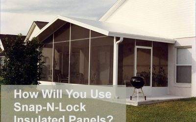 How Will You Use Snap-N-Lock Insulated Panels?