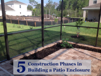5 Construction Phases in Building a Patio Enclosure