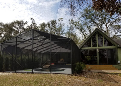 gable style pool enclosure