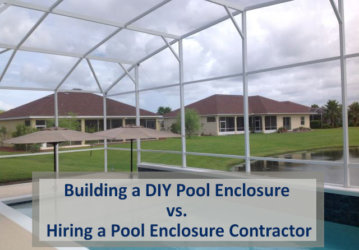 Building a DIY Pool Enclosure vs. Hiring a Pool Enclosure Contractor