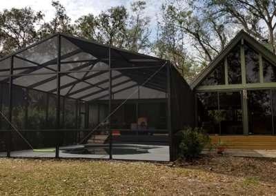 gable style pool enclosureR