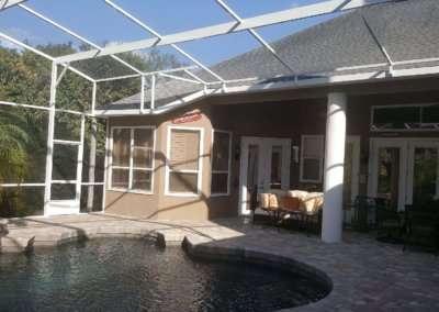 pool screen enclosure-interior