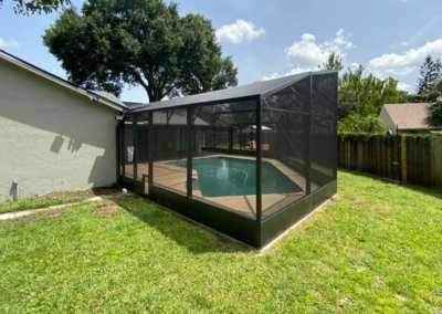 custom shape pool enclosure