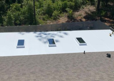 insulated roof with skylights