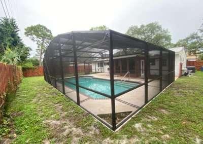 mansard roof pool enclosure