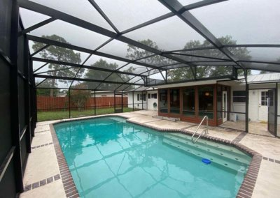 mansard roof pool enclosure interior
